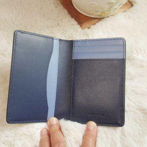 COACH CARD WALLET F79802 BLUE MULTI CARD CASE